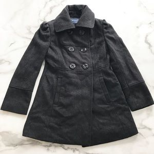 Rothschild Charcoal Gray Peacoat Wool Blend